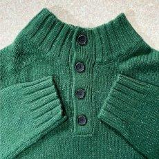 画像5: 「NAUTICA(ノーティカ)」グリーン ハーフボタン ワンポイント刺繍 メランジ ニット (5)
