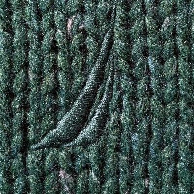 画像2: 「NAUTICA(ノーティカ)」グリーン ハーフボタン ワンポイント刺繍 メランジ ニット