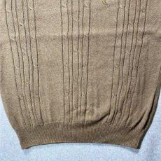 画像7: 「NAUTICA(ノーティカ)」キャメル ワンポイント刺繍 ケーブル クルーネック ニット (7)