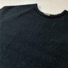 画像14: 「L.L.Bean(エルエルビーン)」ウールマーク ブラック シェットランド ピュアウール ニット (14)
