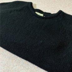画像15: 「L.L.Bean(エルエルビーン)」ウールマーク ブラック シェットランド ピュアウール ニット (15)