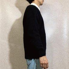 画像18: 「L.L.Bean(エルエルビーン)」ウールマーク ブラック シェットランド ピュアウール ニット (18)