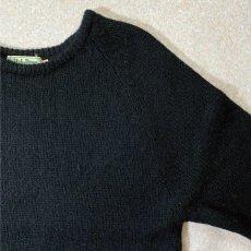 画像4: 「L.L.Bean(エルエルビーン)」ウールマーク ブラック シェットランド ピュアウール ニット (4)