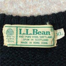 画像7: 「L.L.Bean(エルエルビーン)」ウールマーク ブラック シェットランド ピュアウール ニット (7)