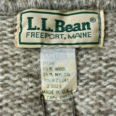 画像7: 「L.L.Bean(エルエルビーン)」メランジ 太ボーダー USA製 ローゲージ クルーネック ニット (7)