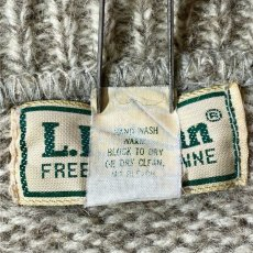 画像8: 「L.L.Bean(エルエルビーン)」メランジ 太ボーダー USA製 ローゲージ クルーネック ニット (8)