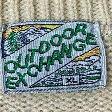 画像6: 「OUTDOOR EXCHANGE(アウトドア エクスチェンジ)」カモ柄 オフホワイト クルーネック ローゲージ ニット (6)