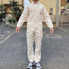 画像16: 「三菱自動車」公式 作業着 ボタンフロント オールインワン つなぎ (16)
