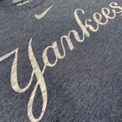 画像1: 「NIKE(ナイキ)」MLB ニューヨークヤンキース NEW YORK YANKEES 杢チャコール Tシャツ