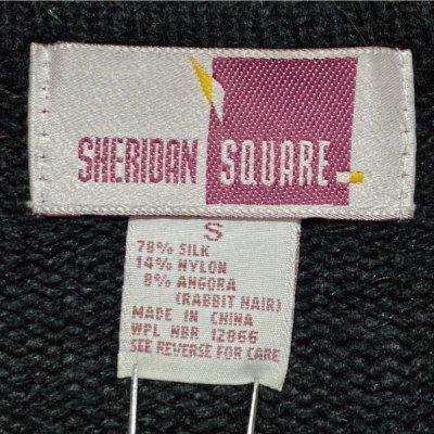 画像1: 「SHERIDAN SQUARE(シェリダンスクエア)」スパンコール 幾何学模様 ライン ニット
