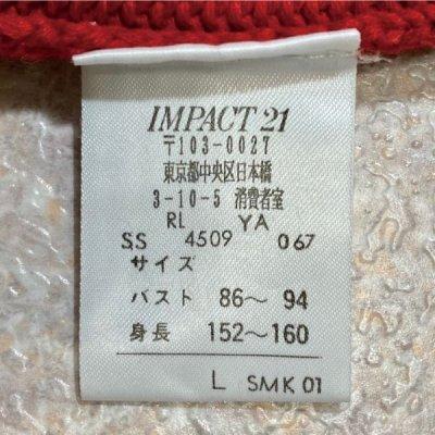 画像2: 「POLO SPORT(ラルフローレン ポロスポーツ)」Vネック 赤 90s ポニー刺繍 コットン ニット