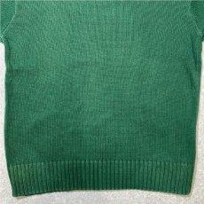 画像5: 「Polo RALPH LAUREN(ポロ ラルフローレン)」クルーネック グリーン 90s ポニー刺繍 コットン ニット (5)