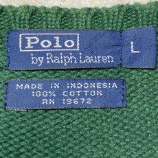 画像7: 「Polo RALPH LAUREN(ポロ ラルフローレン)」クルーネック グリーン 90s ポニー刺繍 コットン ニット (7)