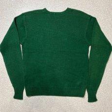 画像8: 「Polo RALPH LAUREN(ポロ ラルフローレン)」クルーネック グリーン 90s ポニー刺繍 コットン ニット (8)