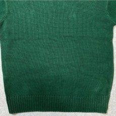 画像12: 「Polo RALPH LAUREN(ポロ ラルフローレン)」クルーネック グリーン 90s ポニー刺繍 コットン ニット (12)