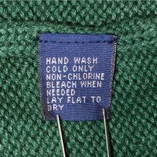 画像14: 「Polo RALPH LAUREN(ポロ ラルフローレン)」クルーネック グリーン 90s ポニー刺繍 コットン ニット (14)
