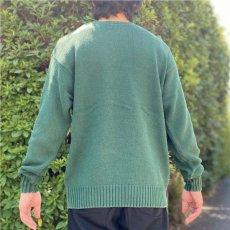 画像20: 「Polo RALPH LAUREN(ポロ ラルフローレン)」クルーネック グリーン 90s ポニー刺繍 コットン ニット (20)