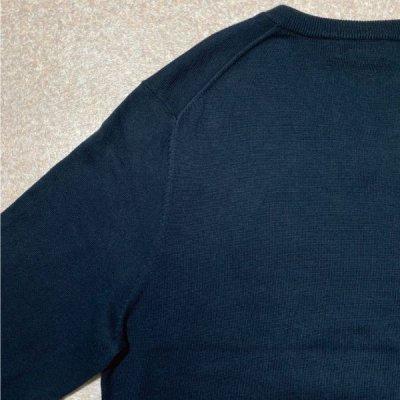 画像3: 「Brooks Brothers(ブルックスブラザーズ)」スーピマコットン ブラック Vネック ニット