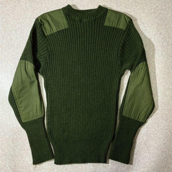 画像1: 「Jack Young(ジャック ヤング)」ミリタリー 軍物 オリーブ グリーン USA製 コマンドセーター (1)