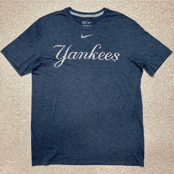 画像1: 「NIKE(ナイキ)」MLB ニューヨークヤンキース NEW YORK YANKEES 杢チャコール Tシャツ (1)