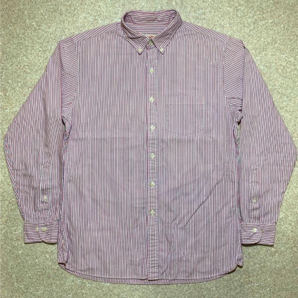 画像1: 「Brooks Brothers(ブルックスブラザーズ)」オルタネイトストライプ ボタンダウンシャツ (1)
